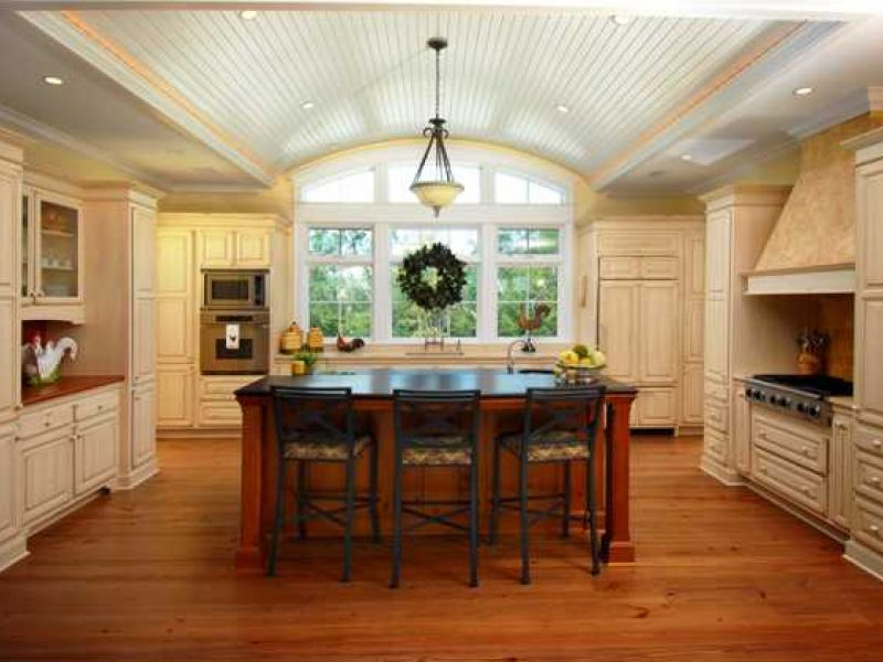 Fired Granite Counter And Barrel Ceiling